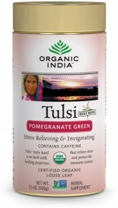 Organic India Tulsi Pommegranate Green Tea Tin 100g