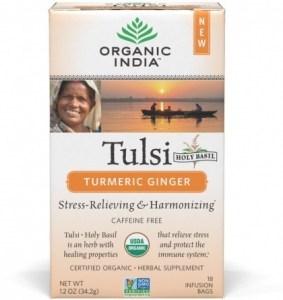 Organic India Tulsi Turmeric Ginger Tea 18Teabags