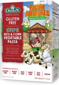 Orgran Kids Farm Animals Rice & Corn Vegetable Pasta 200g
