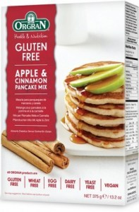Orgran Apple/Cinnamon Pancake Mix 375gm