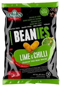 Orgran Beanies Lime & Chilli Crunchy Fava Bean Snacks 80g
