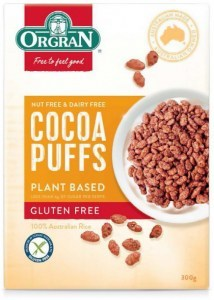 Orgran Cocoa Puffs Plant Based Cereal  300g