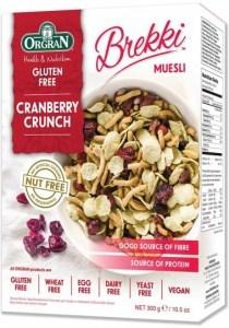 Orgran Cranberry Crunch Brekki Muesli  300g