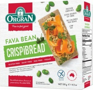 Orgran Fava Bean Crispibread  130g