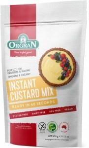 Orgran Instant Custard Mix  200g Pouch