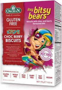 Orgran Kids Itsy Bitsy Bears Choc Berry Biscuits  175g