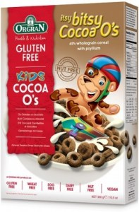 Orgran Kids Itsy Bitsy Cocoa O's Cereal  300g