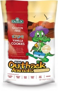 Orgran Kids Mini Outback Animals Vanilla Cookies 8 Fun Packs 175g