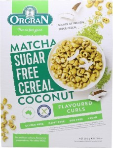 Orgran Matcha & Coconut Sugar Free Cereal Curls 200g