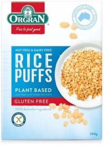 Orgran Rice Puffs Plant Based Cereal  300g