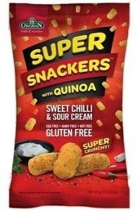 Orgran Super Snackers with Quinoa Sweet Chilli & Sour Cream 90g
