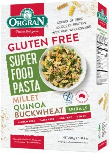 Orgran Super Trio Buckwheat, Quinoa and Millet Spiral Pasta 250g