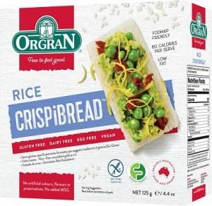 Orgran Rice Crispibread 125g