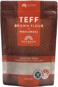 Outback Harvest Teff Brown Flour Wholemeal 400g