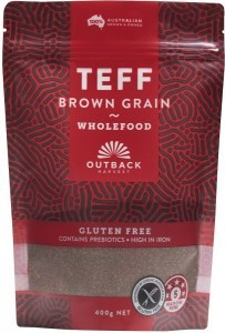 Outback Harvest Teff Brown Grain Wholefood 400g