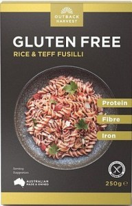 Outback Harvest Wholefoods Low Carb Fusilli Pasta w/Teff 250g
