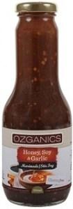 Ozganics Organic Honey, Soy & Garlic Marinade 350ml