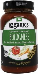 Ozganics Organic Bolognese NAS Pasta Sauce 500g