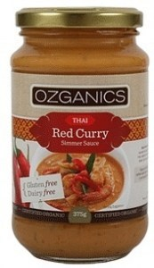 Ozganics Organic Thai Red Curry Sauce 375g