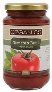 Ozganics Organic Tomato & Basil Pasta Sauce 375g