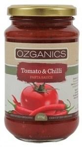 Ozganics Organic Tomato&Chilli Pasta Sauce  375g