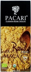 Pacari Biodynamic Raw Cacao Bars w Maca 50g FEB19