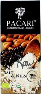 Pacari Biodynamic Raw Cacao Bars w Salt Nibs 50g