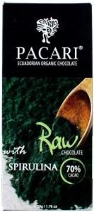 Pacari Biodynamic Raw Cacao Bars w Spirulina 50g