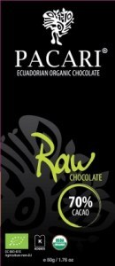 Pacari Biodynamic Raw Choc 70% Cacao Bars 50g