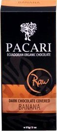 Pacari Organic Raw Dark Chocolate Covered Banana 57g
