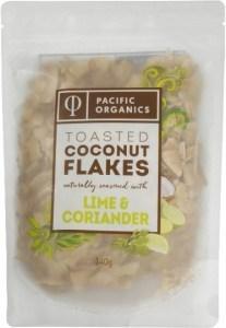 Pacific Organics Coconut Flakes Lime & Coriander 140g