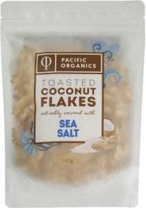 Pacific Organics Coconut Flakes Sea Salt 140g