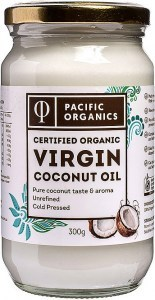 Pacific Organics Organic Virgin Coconut Oil  300g Glass Jar