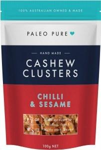 Paleo Pure Cashew Clusters Chilli Sesame 100g