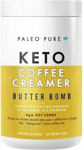 Paleo Pure Keto Coffee Creamer Butter Bomb with Grass Fed Butter & Coconut Oil Powder 250g