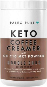 Paleo Pure Keto Coffee Creamer w/MCT Powder Double Choc 250g