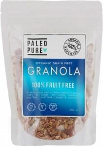 Paleo Pure Ogranic Grain Free Granola Fruit Free  300g