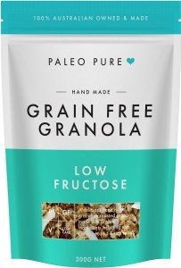 Paleo Pure Ogranic Grain Free Granola Low Fructose Fruit Free  300g