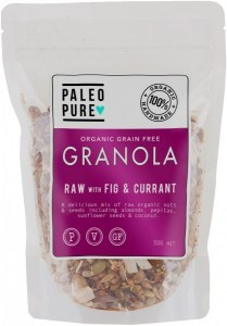 Paleo Pure Ogranic Grain Free Granola Raw Fig & Currant  300g