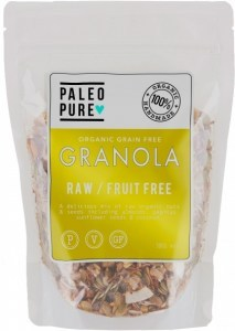 Paleo Pure Ogranic Grain Free Granola Raw Fruit Free  300g