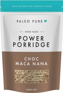 Paleo Pure Organic Power Porridge Choc Maca Nana 300g