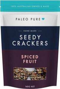 Paleo Pure Seedy Crackers Spiced Fruit 140g