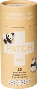 PATCH Coconut Oil Organic Kids Adhesive Strips Tube of 25