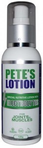 Petes Lotion with Electrolytes for Joints & Muscles 120g