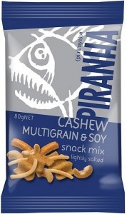 Piranha Cashew Multigrain & Soy Snack Mix 20x80g