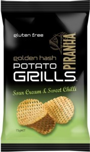 Piranha Potato Grills Sour Cream & Sweet Chilli 12x75g