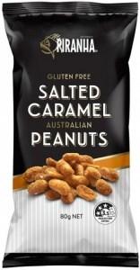 Piranha Salted Caramel Peanuts  12x80g