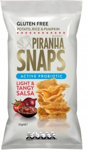 Piranha Snaps Probiotics Light & Tangy Salsa  12x50g
