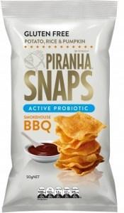Piranha Snaps Probiotics Smokehouse BBQ  12x50g