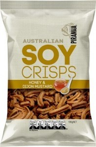 Piranha Soy Crisps Honey & Dijon Mustard 100g